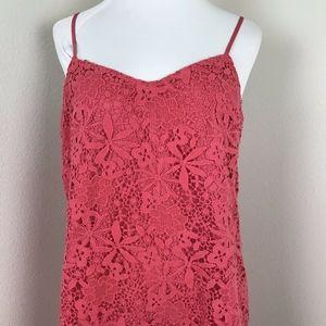 J Crew Lace Slip Dress Size 10 Coral